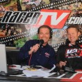 "GNCC Live hosts Rodney Tomblin (left) and Fred Andrews pose inside the ""RacerTV Race Day Studio"" at GNCC"