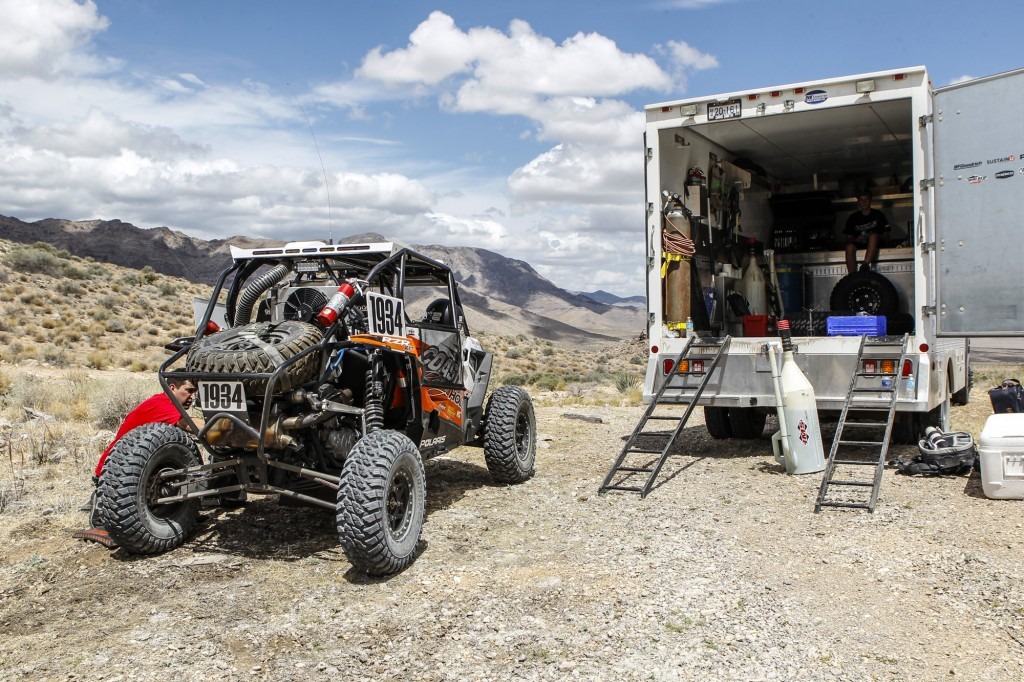 The Holz Racing Polaris RZR was equipped with GBC Motorsports Kanati Mongrel tires.