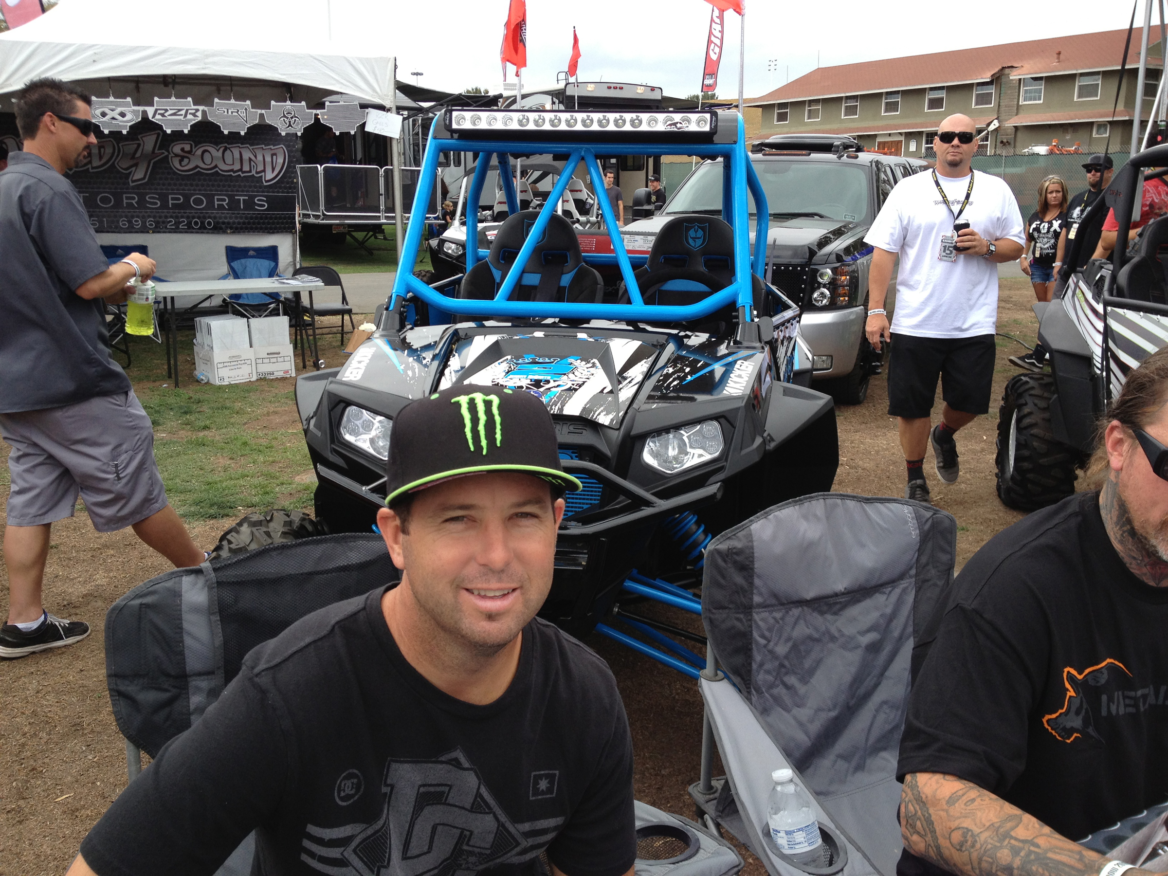 Jeremy McGrath and his Lazer Star equipped Polaris RZR built by Pro Armor at the 2013 Sand Show.