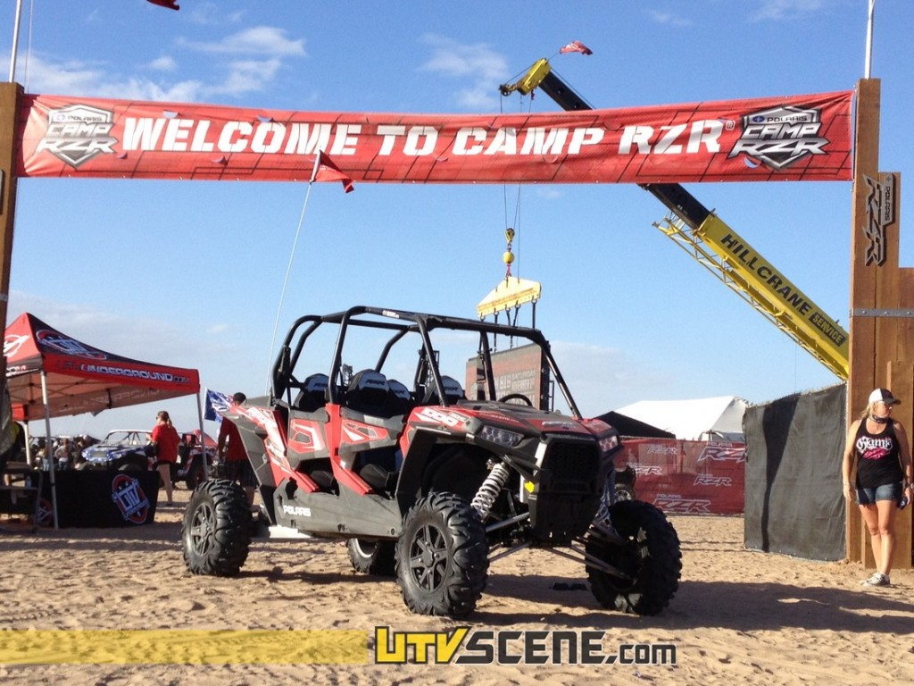 Camp RZR guests were greeted at the compound entrance