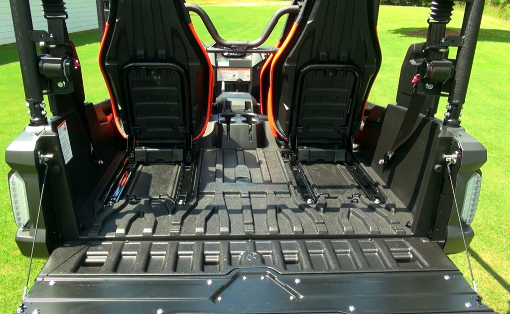 The bed is huge after you push the rear seats forward.