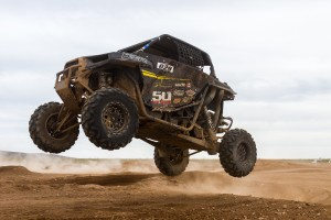 Cody Rowleg pushed his Polaris RZR 1000 into the top step of the podium