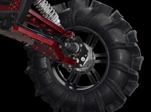 Bigger tires, longer suspension or a lift kit is no problem with the Super ATV arms, axles and tie rods we upgraded with.