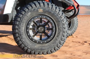 """I feel I went with the ultimate wheel and tire choice; dual beadlock HiPer Wheels bolted to a set of 30"""" GBC Mongrels."""