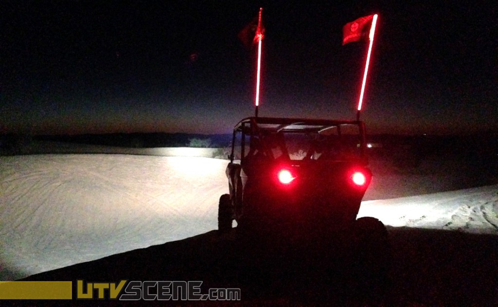 This photo only somewhat give you an idea as to how powerful the Laserstar lights are.