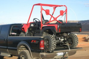 Yes the Tery will fit in the back of your truck.