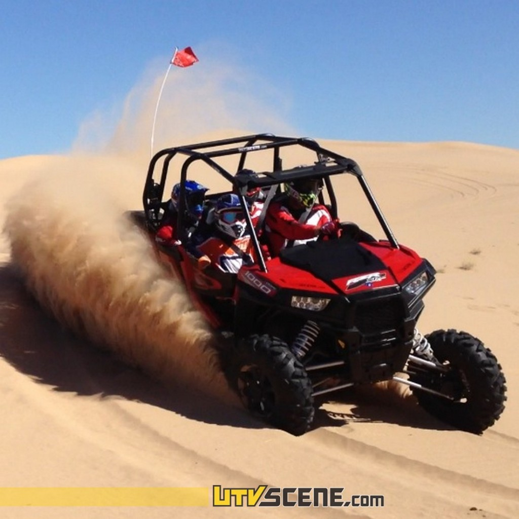 The XP4 comfortably carves tight turns & sand bowls providing an E ticket ride for the driver & up to three passengers!
