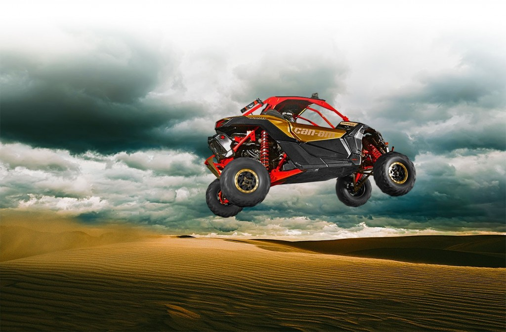 "The Can-Am Maverick X3 X RS, the first factory-built 72"" Side by Side, features massive 30"" Maxxis Bighorn 2.0 tires. And yes it performs just as good as it looks."