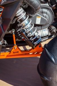 SDR's Hi-Bred long travel rear trailing arm.