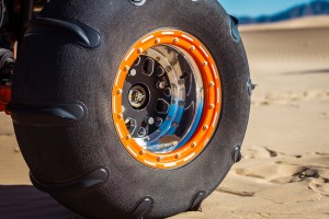 """At 11"""" wide the DWT rear wheels get the maximum width profile out of the 13"""" wide Skat-Trak tire."""