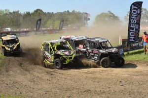 The Yokley Racing Polaris team battled through turn one to grab the holeshot