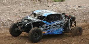 Malcom Sneed, S3 Powersports CEO, recorded the UTV Unlimited class win in his No. 2819 Can-Am Maverick X3 MAX side-by-side vehicle at BITD Silver State 150 in Nevada. (Photo supplied by Josh Catogni, S3)