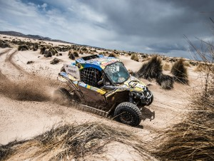 The No. 356 Can-Am Maverick X3, piloted by Reinaldo Varela and co-pilot Gustavo Gugelmin won the 2018 Dakar Rally today in South America.