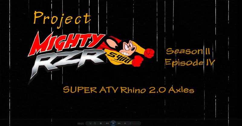 Super ATV Rhino 2 0 Axles - UTV Scene Magazine